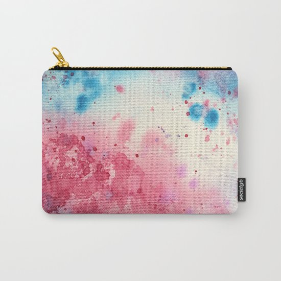 When pink meets blue    watercolor Carry-All Pouch