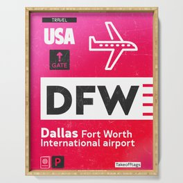 DFW RED Serving Tray