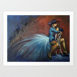 Peacock Dancer Art Print