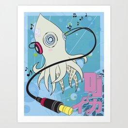 DJ Squid Art Print