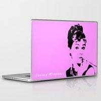 audrey hepburn Laptop & iPad Skins featuring Audrey Hepburn by Walter Eckland