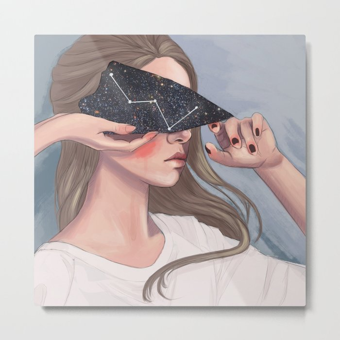 Inside Her Reflection... Metal Print