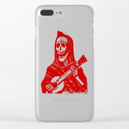 Skeleton With Guitar Clear iPhone Case