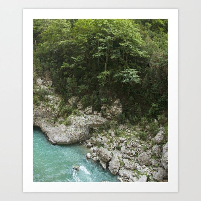Hiking in France Art Print