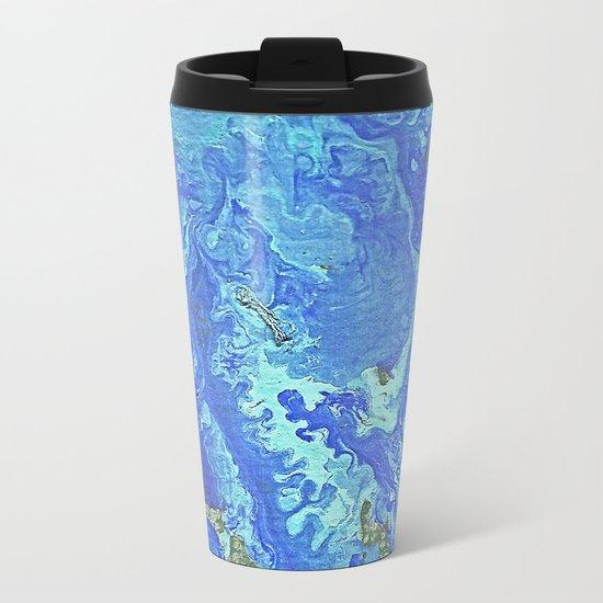 Water Flow On The Earth Metal Travel Mug