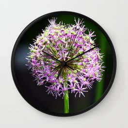 Allium Ball-shaped Onion Flower Wall Clock