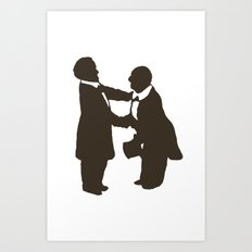 Bruckner shaking the Master's hand Art Print