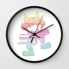 MonsterCat Typography Wall Clock