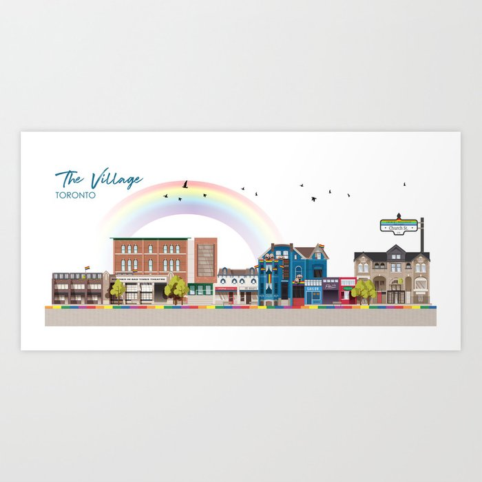 The Village - Toronto Neighbourhood Art Print