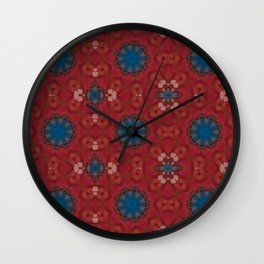 New Color Pyramidal Mandala 73 - Pattern 4 Wall Clock