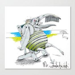 Mr Whalehead Canvas Print
