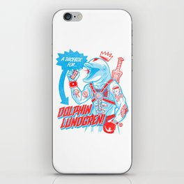 A Juicebox for Dolphin Lundgren iPhone Skin