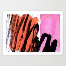 strokes on sherbet Art Print