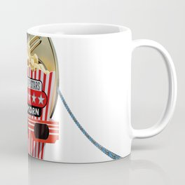 3D Movie Reel and Buttered Popcorn Coffee Mug