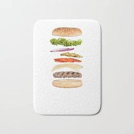 Hamburger Bath Mat