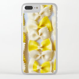 White and Yellow Bows Clear iPhone Case