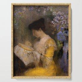 "Odilon Redon ""Madame Arthur Fontaine (Marie Escudier)"" Serving Tray"