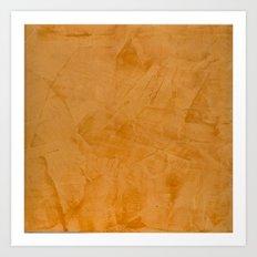 Orange Home Decor Accessories Art Print