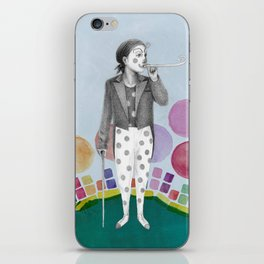 clown and lots of dots iPhone Skin