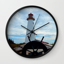 Sailing to Point Prim Lighthouse Wall Clock