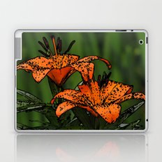 Cartoon Lillies Laptop & iPad Skin