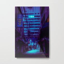 Night falls over Seoul Metal Print