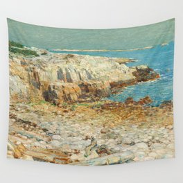 A North East Headland Oil Painting by Childe Hassam Wall Tapestry