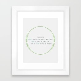 Secular Serenity Prayer Framed Art Print