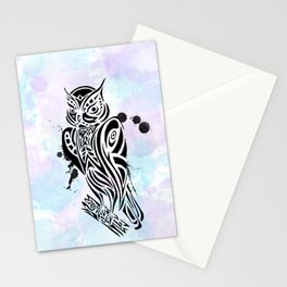 Owl Tribal Stationery Cards