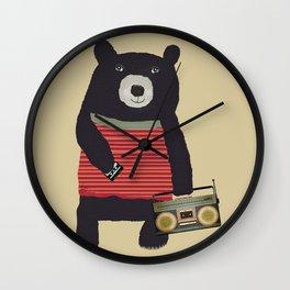 Boomer bear Wall Clock