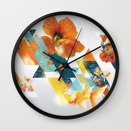 Gift Wrap Three Wall Clock