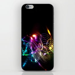 Music Notes in Color iPhone Skin