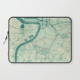 Antwerp Map Blue Vintage Laptop Sleeve