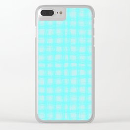 woven cables, blue Clear iPhone Case