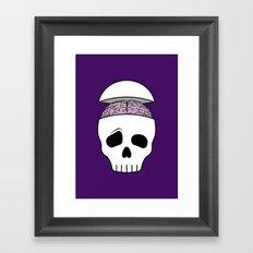 Brainy Skull Framed Art Print