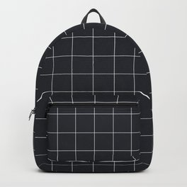 Grid in Charcoal Backpack