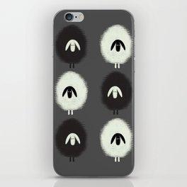 Sheep black & white iPhone Skin