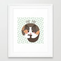 fat Framed Art Prints featuring Fat Fat the Cat! by Fat Fat