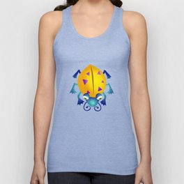 Yellow Bug Unisex Tank Top