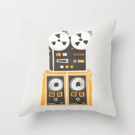 Reel to Reel Player Throw Pillow