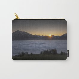 MOUNTAIN SUNSET ABOVE THE SEA OF FOG Carry-All Pouch