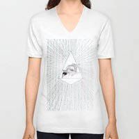 all seeing eye V-neck T-shirts featuring All Seeing Eye by Rachel Hoffman