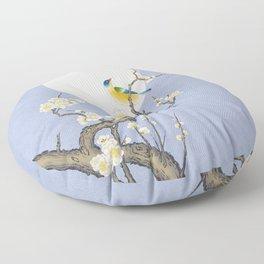 Plum blossoms, bird and the moon Type B (Minhwa: Korean traditional/folk art) Floor Pillow