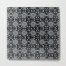 Sharkskin Floral Abstract Metal Print