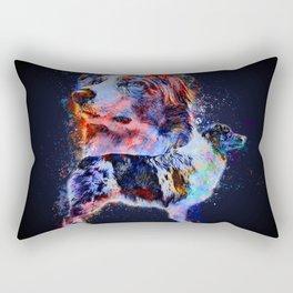 Australian Shepherd dog - Aussie Rectangular Pillow
