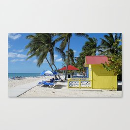 Caribbean Bungalow Canvas Print