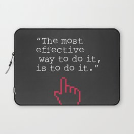 Amelia Earhart quote Laptop Sleeve