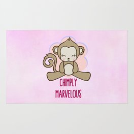 Chimply Marvelous Cute Monkey Pun Rug