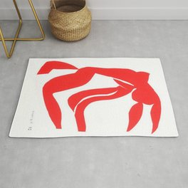 Henri Matisse, Rouge Freedom, Nude (Red Freedom, Nude) lithograph modernism portrait painting Rug