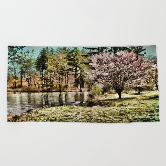 Spring Time In New England Beach Towel